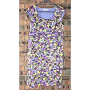 BODEN Size 16 Tulip Shift Dress Floral Purple